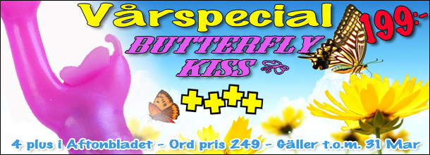 Butterfly Kiss Rosa - 199kr