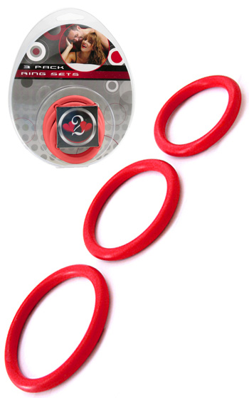 3-pack Nitrile Rings - Röd