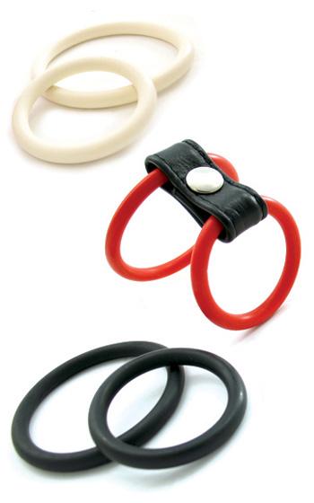 6-pack Nitrile Rings - Röd Vit Svart