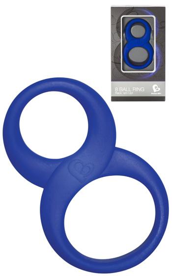 8 Ball Ring Blå