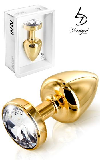 Buttplug Gold Crystal 25 mm
