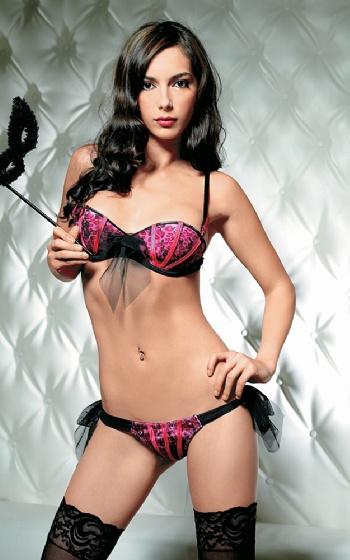 Exklusiv rosa svart leopard M-L