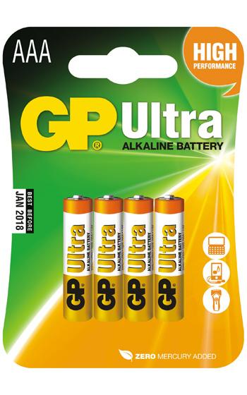 GP LR3 Ultra Alkaline 4-pack