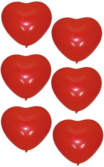 Hjärtformade Ballonger 6-pack