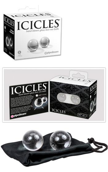 Icicles Hand Blown Glass Ben-Wa Balls
