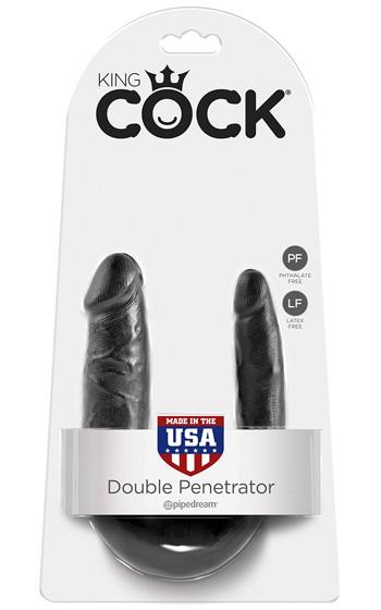 King Cock Double Penetrator Black