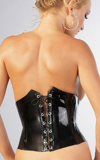 Kort Latexkorsett Medium