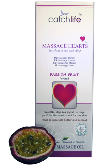 Passion Fruit Massage Hearts 50 gr