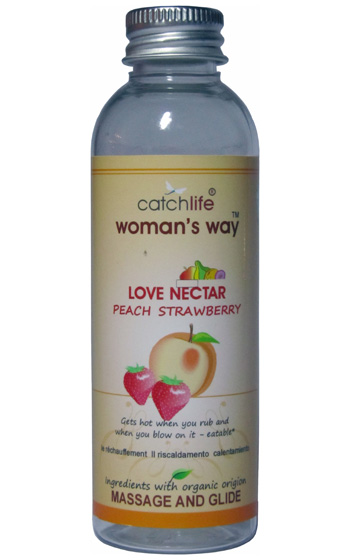 Smaksatt glidmedel Peach Strawberry Love Nectar 75 ml