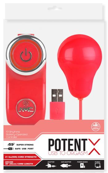 Potent X Red Vibrating Egg