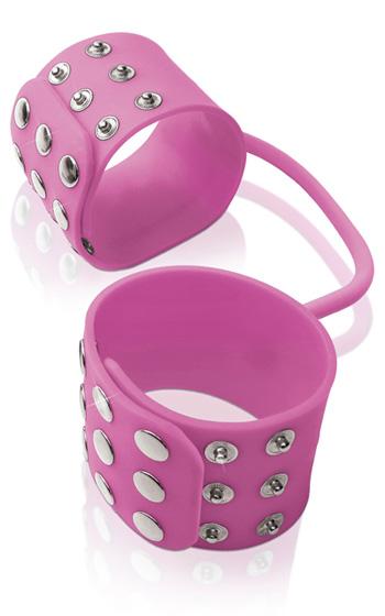 Silicone Cuffs Pink