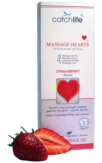 Strawberry Massage Hearts 50 gr