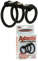 Adonis Leather Rings