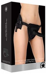Strap-On Deluxe Silicone Strap On Black 8 tum