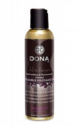 Massageoljor Massageljus Dona Kissable Massage Oil Chocolate 110 ml