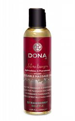 Massageoljor Massageljus Dona Kissable Massage Oil Strawberry 110 ml