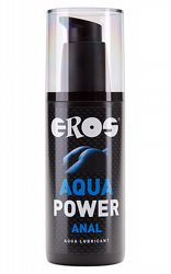 Analt glidmedel EROS Aqua Power Anal 125 ml