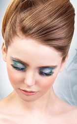 Eyelash Black-Blue Deluxe