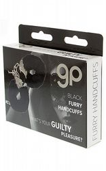 Handbojor Furry Handcuffs Black
