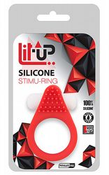 Penisringar Lit Up Silicone Ring Red