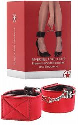 Handbojor Reversible Ankle Cuffs Red