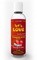 Massageoljor Massageljus Strawberry on Ice Massage 100 ml