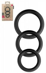 Twiddle Rings Black 3-pack